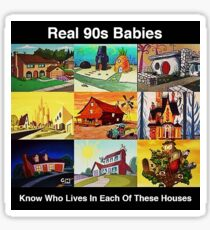 Real 90s babies Sticker