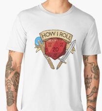 How I Roll d20 Dungeons and Dragons Dice RPG  Men's Premium T-Shirt