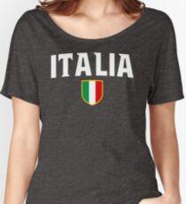 Italia Flag Emblem Women's Relaxed Fit T-Shirt
