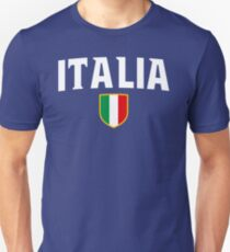 Italia Flag Emblem Unisex T-Shirt