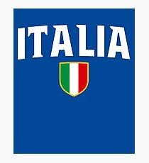 Italia Flag Emblem Photographic Print