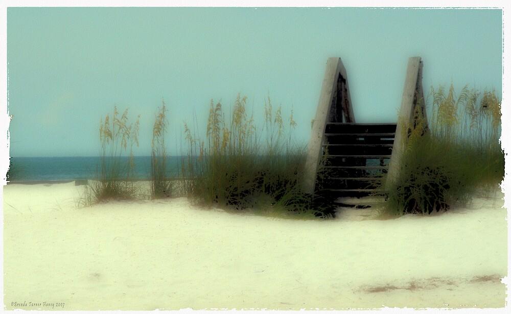 Poloroid Transfer Beach Scene by Brenda Haney