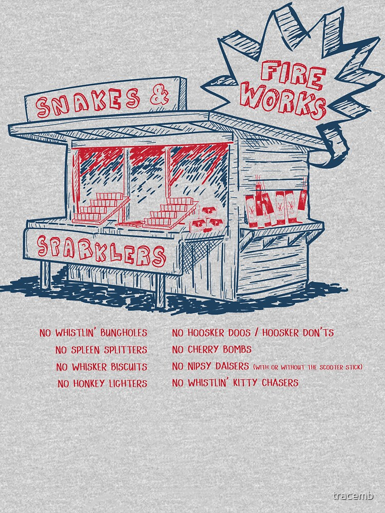 4th of July Fireworks Stand Tshirt by tracemb