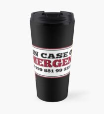 It Crowd Inspired - New Emergency Number - 0118 999 881 99 9119 725 3 - Moss and the Fire Travel Mug