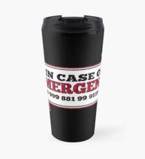Il inspiré la foule - Nouveau numéro d'urgence - 0118 999 881 99 9119 725 3 - Moss et le feu Mug de voyage