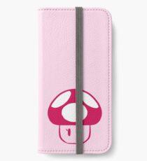 peach mushroom iPhone Wallet/Case/Skin
