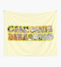 California Dreaming 60s Hippie Music Art Peace Love Happy Wall Tapestry