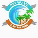 Big Wave Surf Paradise by HandDrawnTees