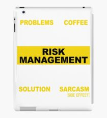 RISK MANAGEMENT iPad Case/Skin