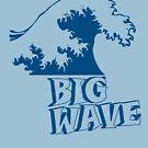 Big Wave Surf Dark by HandDrawnTees