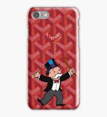 mr monopoly on red goyard iPhone Case/Skin