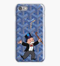 mr monopoly on blue goyard iPhone Case/Skin