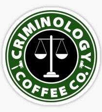 Criminology Coffee Co. Sticker