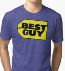 Best Guy - Best Buy Spoof Logo Tri-blend T-Shirt