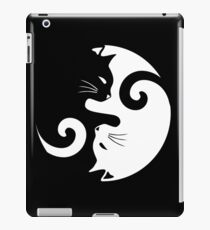 Ying Yang Cats - Black and white iPad Case/Skin