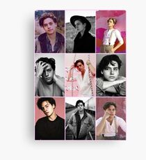 cole sprouse pink aesthetic collage  Canvas Print