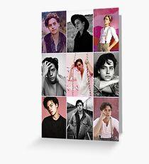 Cole sprouse rosa ästhetische Collage Grußkarte