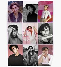 cole sprouse pink aesthetic collage  Poster