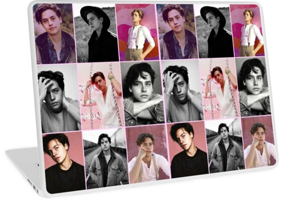 cole sprouse pink aesthetic collage by alyciathefox