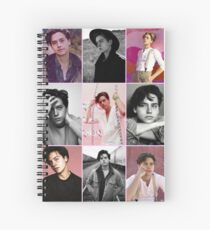 cole sprouse pink aesthetic collage  Spiral Notebook