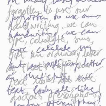 Handwritten (dark shirt) by wigman