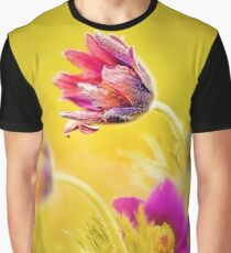 Spring Romantic Flower Graphic T-Shirt