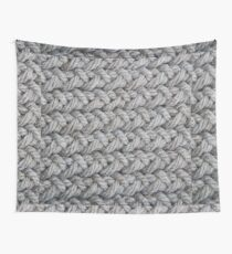 Hip grey sweater texture chunky knit Wall Tapestry