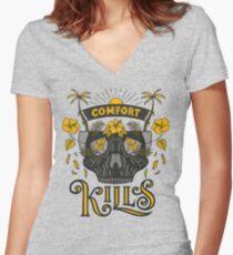 Comfort Kills Women's Fitted V-Neck T-Shirt