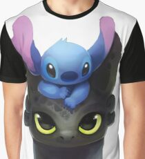 Stitch And Toothless Graphic T-Shirt
