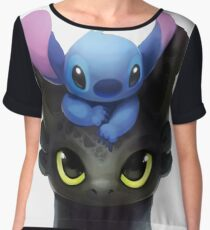 Stitch And Toothless Women's Chiffon Top