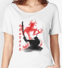 Samurai from Japan with Devil Sword Women's Relaxed Fit T-Shirt
