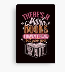 Million Books. Bookaholic Tee. Canvas Print