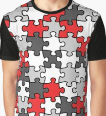 Puzzle Pattern Graphic T-Shirt