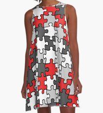 Puzzle Pattern A-Line Dress