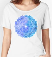 blue mandala Women's Relaxed Fit T-Shirt