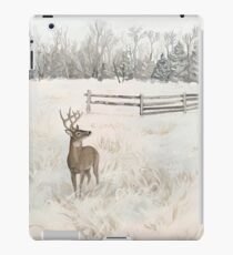 Snowy Deer Scene iPad Case/Skin