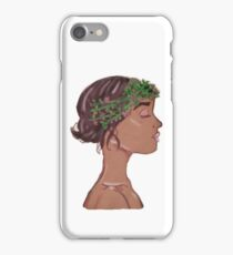 Glossy Nature Lady iPhone Case/Skin