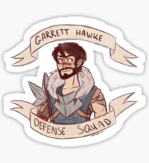 Dragon Age 2 - GARRETT HAWKE DEFENSE SQUAD Sticker