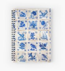 hand painted portuguese tiles Spiral Notebook