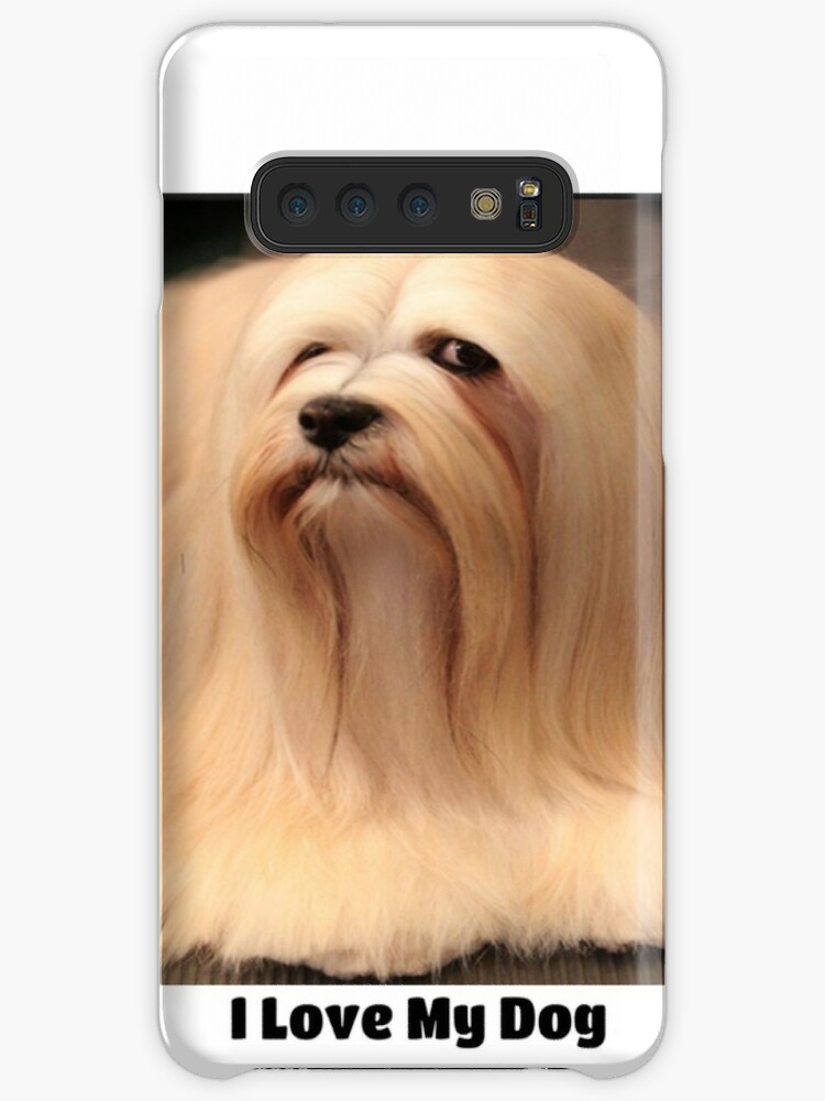 'I love my Lhasa Apso Dog Breed ' Case/Skin for Samsung Galaxy by  shoutasscience