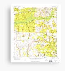 USGS TOPO Map Florida FL Holt 346678 1956 62500 Canvas Print