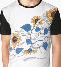 Girl with sunflowers in her hair Graphic T-Shirt