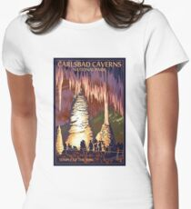 Carlsbad Caverns Temple of the Sun Vintage Travel Decal Women's Fitted T-Shirt