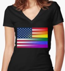 We Are One Women's Fitted V-Neck T-Shirt