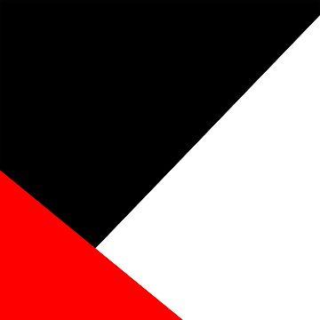 Red & Black Modern Minimalist Print by LightfulFoxtrot