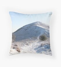 Snow on the Hill Throw Pillow