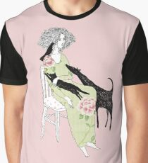 Girl with cat, dog and bird Graphic T-Shirt