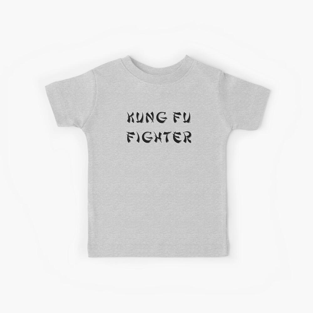 Kung Fu Kämpfer Kinder T-Shirt