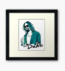 The Dude, The big Lebowski Framed Print