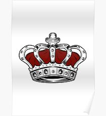 Crown - Red Poster